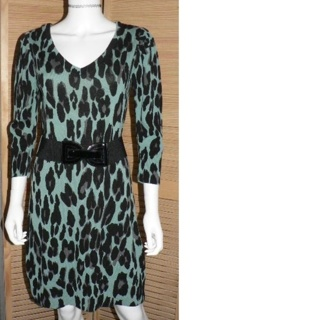 Rockabilly Dress w/ Belt Ladies Size M -Awesome!!!!
