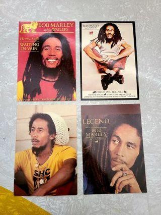 Bob Marley vintage post card lot