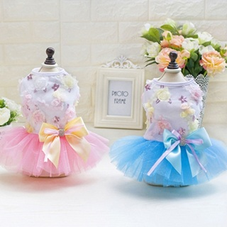 Dog Cat Bow Tutu Dress Lace Princess Skirt Pet Puppy Party Dress Summer Clothes
