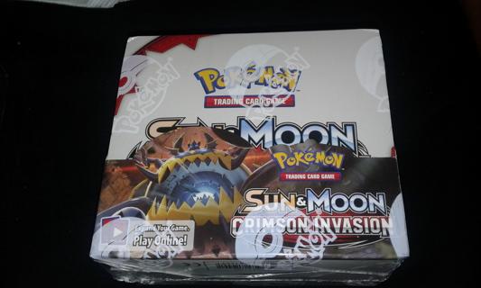 POKEMON SUN & MOON CRIMSON INVASION BOOSTER BOX~SEALED
