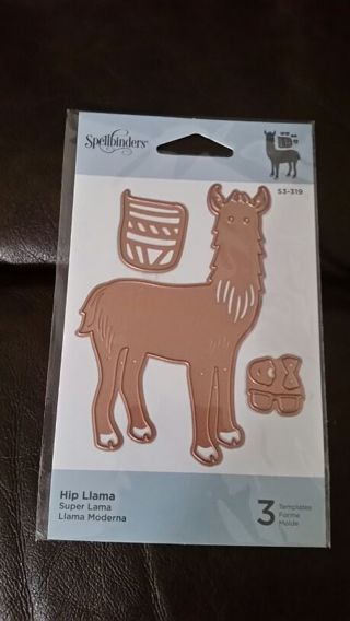 NEW Metal Die Cut - HIP LLAMA - THREE DIE CUTS