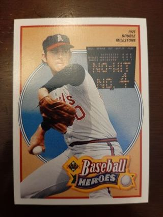 1990 Upper Deck Heroes Nolan Ryan #12