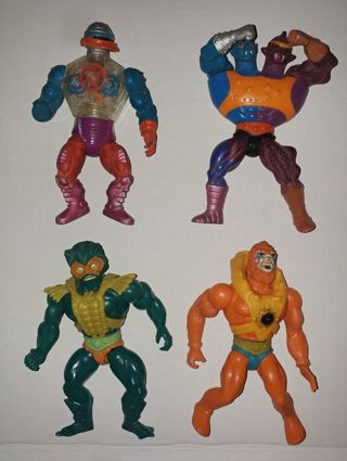 VINTAGE MOTU LOT He-Man Masters Of The Universe Action Figure Lot of 4 (relist)