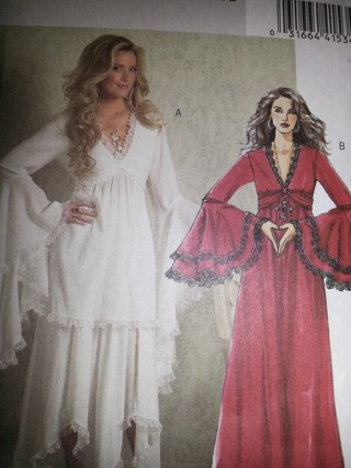 Free New Plus Size Butterick Gothic Dress Top Shirt B5007 Costume