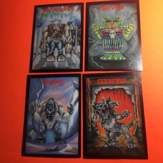 4 Monster in my Pocket 1991 Cards!