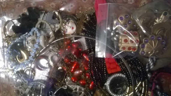 Bag of Jewelry for Crafting Purposes