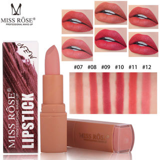 MISS ROSE Lipstick Matt Waterproof Long Lasting Lip Cosmetic Stereoscopic Makeup
