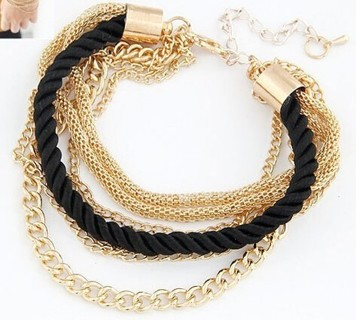 Fashionable Rope Chain Decoration Bracelet For Girl Six Color Hot