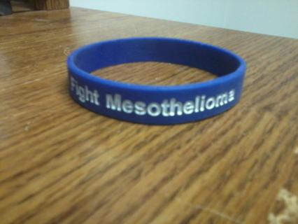 Fight Mesothelioma Silicone Awareness Bracelet Wristband