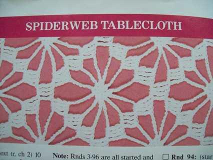 Free Spiderweb Tablecloth Crochet Pattern Crochet Listia