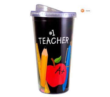 TEACHER APPRECIATION GIFT! 20 oz. Acrylic Travel Sippy Cup with Straw