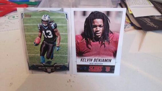 2014 Carolina Panthers Kelvin Benjamin rookie card lot of 2