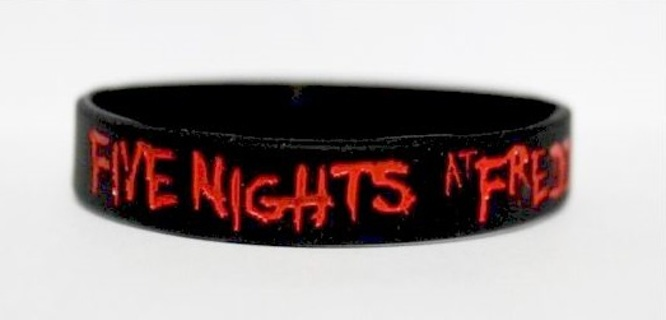 1 Five Nights at Freddy's Wrist Band BLOODY LOGO bracelet wristband Video Game JEWELRY GIN=FAST SHIP