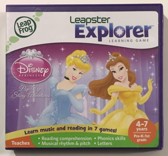 LeapFrog Disney Princess: Pop-Up Story Adventures Leapster Explorer Learning Game Cartridge