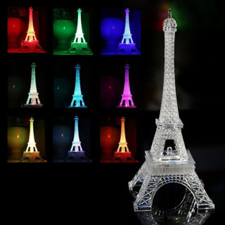 [GIN FOR FREE SHIPPING] Eiffel Tower LED Night Light Desk Wedding Bedroom Decor