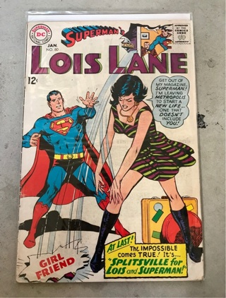Superman's Girlfriend Lois Lane #80 12cent Cover Silver Age