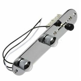 Rocket Tele 3 Way Loaded Control Chrome For Control Plate Switch Plate Guitar