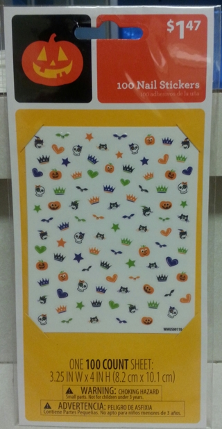 100 Halloween Nail Stickers (1 Sheet)