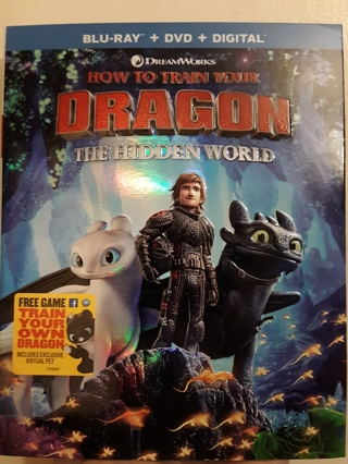 NEW How To Train Your DRAGON The Hidden World  BLU-RAY + DVD + DIGITAL + FREE Game Included