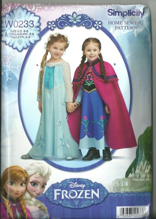 Disney Frozen Costumes Pattern