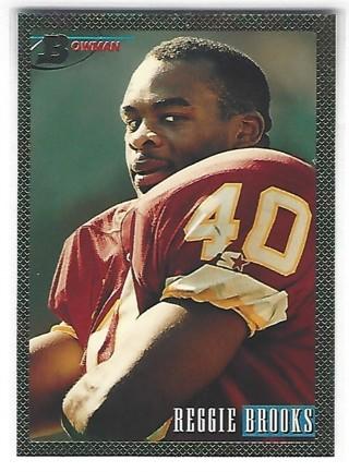1993 BOWMAN FOIL REGGIE BROOKS ROOKIE CARD #62