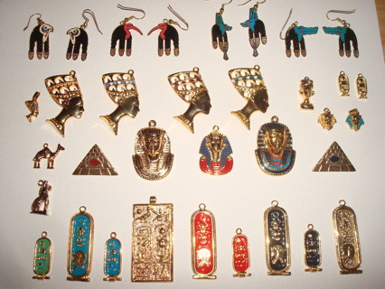Free: Huge Egyptian Jewelry lot Luxor Egypt gods anubis