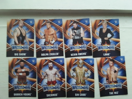 8 -- 2017 WWE ROAD TO WRESTLEMANIA WRESTLING CARDS