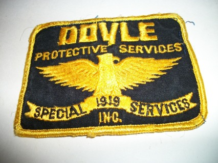 Doyle Protective Services Old Vintage Embroidered Cloth Security Guard Ptch