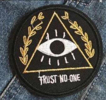 NEW Trust No One Iron-on Patch embroidered patch iron on garments studded jacket diy decorated bag