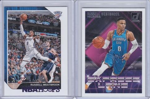 Russell Westbrook 2 Card Lot - Oklahoma City Thunder !!!