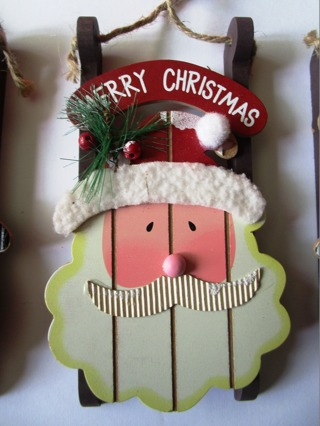 Santa Sled Ornament
