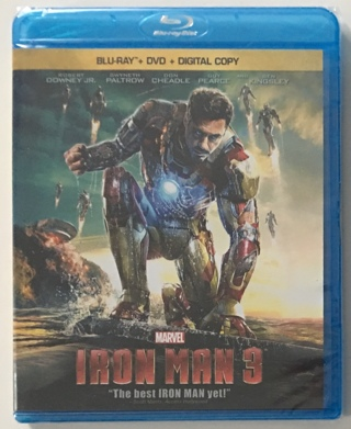 Iron Man 3 (Blu-ray/DVD, 2013, 2-Disc Set, Includes Digital Copy) - New Factory Sealed