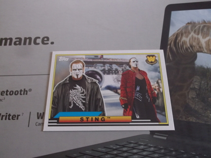 relist  wwe   2019  topps  heritage    big  legend   sting    card   bl  - 47