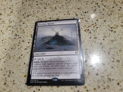 Mtg Faceless Haven kaldheim rare card