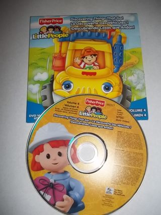 """Fisher Price Little People """"Discovering Things That Go Volume 4 DVD"""" ***FREE SHIPPING***"""