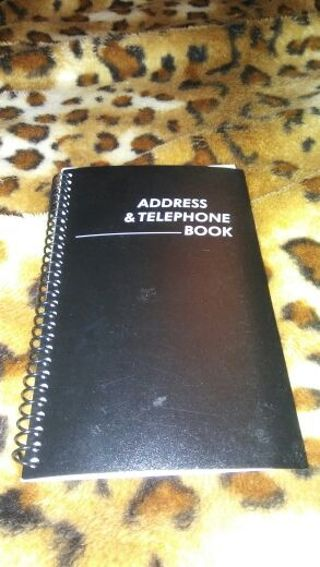 Address. And telephone book