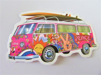 VW BUS- SUMMER FUN!!! Vinyl Sticker- Helmet/Car/Skateboard/Business/Crafts