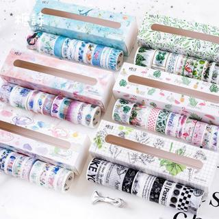 10pcs/lot Mohamm Fresh Objects Series Handbook Diary DIY Decorative Washi Tapes Set Scrapbook Supp