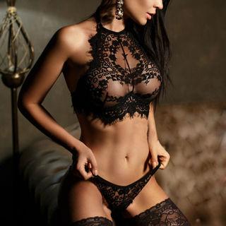Lingerie Lace Flowers Push Up Top Bra Pants Underwear Sleepwear Set