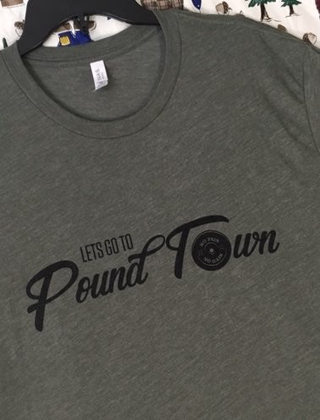 Canvas Men's GYM SHIRT WEIGHT LIFTER POUND TOWN TEE 2XL free shipping