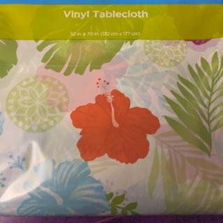 Hawaiian Flower Plastic Tablecloth