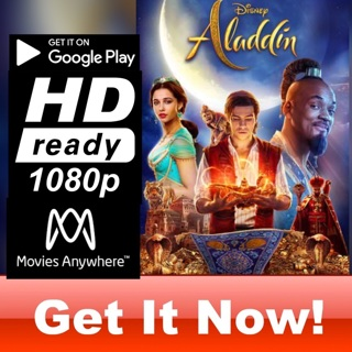 ALADDIN LIVE ACTION HD GOOGLE PLAY CODE ONLY