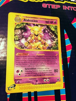 Alakazam - 33/165 - Rare Expedition Singles Pokemon Cards TCG