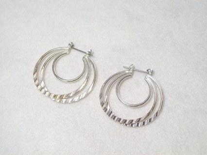 Attractive New SP Hoop Earrings