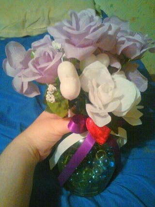 Beautiful fake flowers homemade