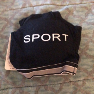 BNWT Sz L, Black SPORT Bra. Wireless, Removable Pads w/ Excellent Support! Pullover.