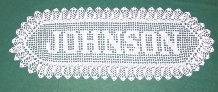 Free Name Doily Instructions 0 Starting Bid 7 Day Auction