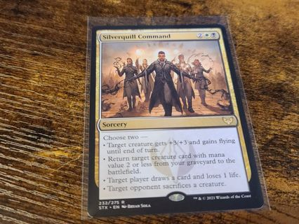 Magic the gathering mtg Silverquill command rare card Strixhaven