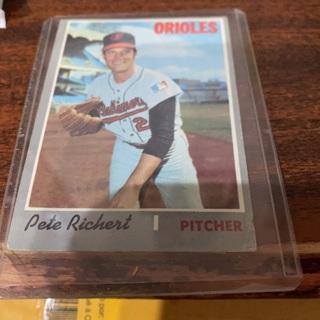 1970 topps pete richert baseball card