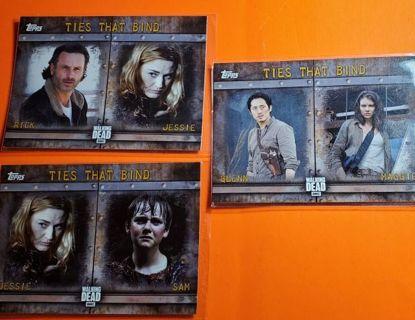 3 Walking Dead 2017 Cards